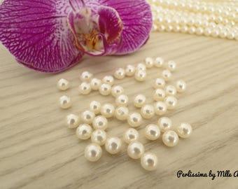 Set of 40 beautiful Majorca Pearl ivory 4mm beads