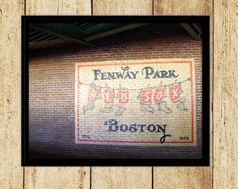 Boston Red Sox Fenway Photograph