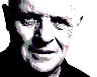Anthony Hopkins - Modern Painting artwork hand-painted ( two size available )