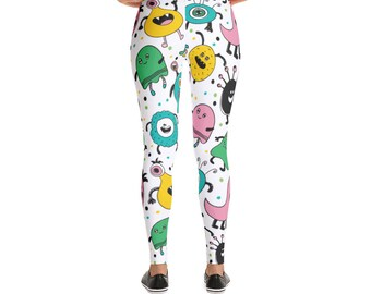 Cute Monsters Pattern Leggings