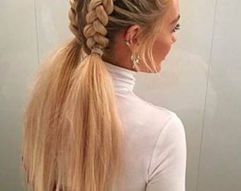 Jumbo kanekalon hair for braiding blonde