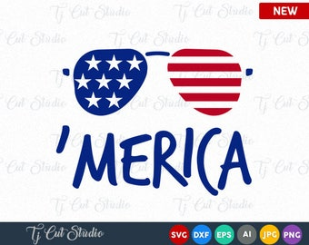 Merica SVG, American flag monogram frames, 4th of July svg, Memorial Day, 4th of July Bow SVG, 4th of July SVG, T-Shirt Designs
