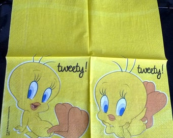 Tweety on yellow paper towel