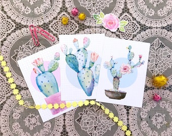 Set of 3 postcards / weheartconfetti