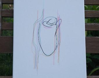 meltwithme marker on canvas
