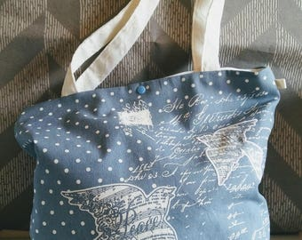 Vintage Blue Bird tote bag