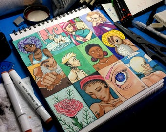 Full Color Ink and Marker Artist Trading Cards by Julian Jaymes