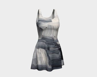 Grey Miss Flare Dress