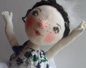 Textile  doll Balerinka