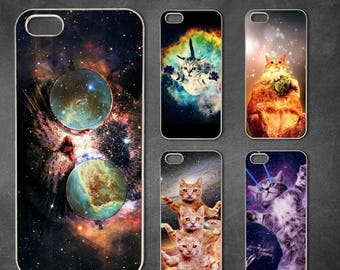 Space cat iphone 7 case, iphone 7 plus case, iphone 6/6s , iphone 8 case, iphone 6 plus case, iphone x, 5/5s case, 5c case, 4/4s