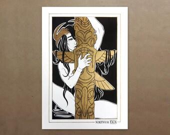 The Art of Paraphilia - XXIX - Xenophilia - Original A5 Ink Gold