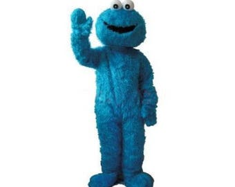 Cookie Monster Style Mascot Costume