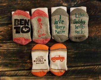 Kids Custom Socks Birthday Party Favors