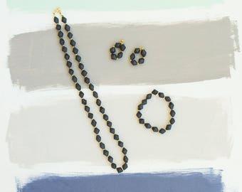 Simply Black Necklace Set