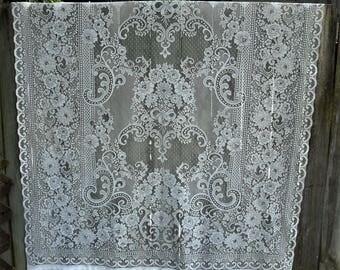 Vintage White Lace Curtain Panel