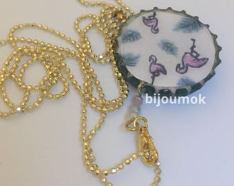 Necklace Pink Flamingos
