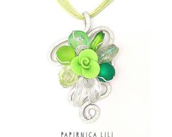 Divine green »rose« Necklace