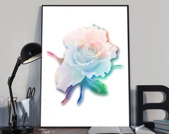 Rose Print, floresent Art, Flowers Print, Rose Printable, Rose Photograph, rose art, flower prints, gift, mom,  2