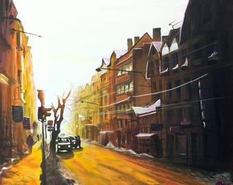 Giclee Print - Downtown Sunset - City - Sunset - Sunrise