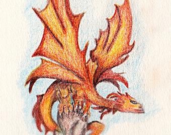 Dragon on the Cliffs Print