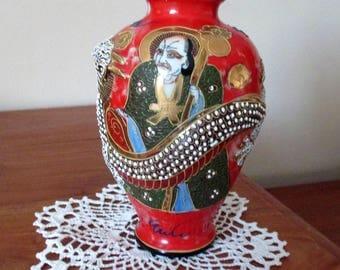 Japanese Satsuma, Dragon Vase ,20thc,collectible