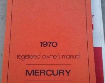 1970 Mercury owners manual
