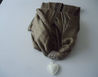#Eté scarf and his jewelry silver