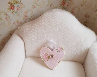Dollhouse Shabby Chic,Doll house Shabby Chic,Dollhouse Miniature,Dollhouse Pink Heart,Shabby Chic Miniatures,12th Scale