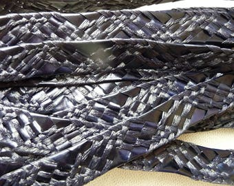 5 m color Navy Blue straw braided band