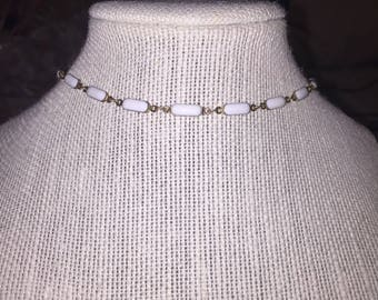 White oval choker