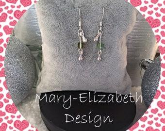 Green with envy drop earrings, green drop earrings, green dangle earrings, green drop earrings