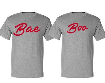 Couple Bae & Boo Valentines Day T-Shirts