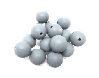 10 15mm - dark grey Silicone beads
