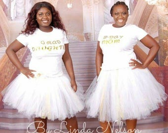 Gold and White Adult Tutu Set