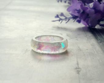 Unicorn Sparkle Ring, unicorn Jewellery, Star resin ring, purple turquoise band ring, small gifts for her, party wear, girls fashion jewelry