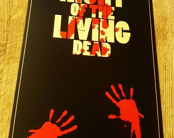 Night of the living dead metal movie poster