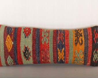 Long Lumbar Pillow 20x10 inch Kilim Lumbar Pillow Monogrammed Lumbar Pillow Toile Lumbar Pillow Outdoor Lumbar Pillow KP10023