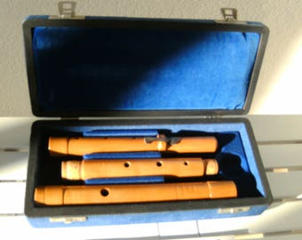 TRaversflöte, wood flute, wooden flute, flute, fold-out Baroque flute