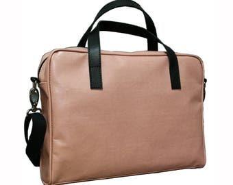 Laptop bag, faux leather, eco leather, vegan bag, crosbody bag, shoulder bag