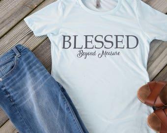 Christian Shirts, Womens, Christian Shirts, T-Shirts, Blessed Shirt, Inspirational T-Shirt