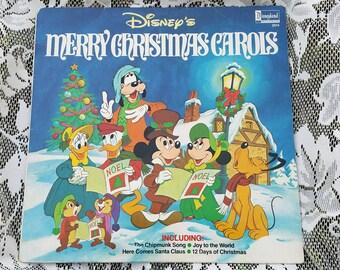 Disney Christmas Carols vinyl album, 1980