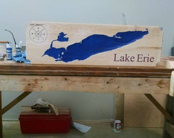3d Carved Lake Erie
