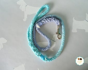 Blue/Blue Ombre Rope Dog Lead / Rope Dog Leash / 4ft Rope Dog Lead / 12mm / Rope Lead / Rope Leash / Pet Supplies / Ombre