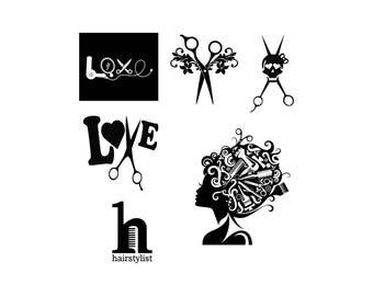 Hairdresser Svg Hair Salon Svg Hairstylist Svg Hairdresser logo svg Cut Files SVG DXF Silhouette Studio Png Eps Cricut