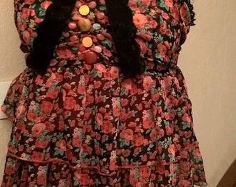 Printed chiffon summer dress