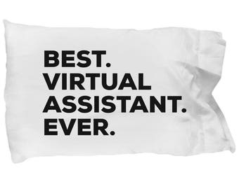 Virtual Assistant Pillow Case, Gifts For Virtual Assistant , Best Virtual Assistant Ever, Christmas Present, Virtual Assistant Gift