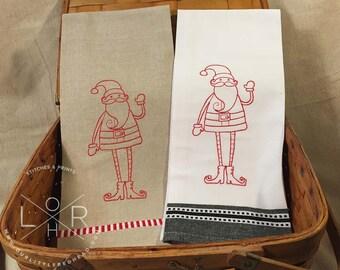 Santa Christmas Tea Towel