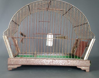 Old and part beautiful birds - 1960 Cage shape-