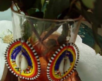 Maasai multi Beaded earrings