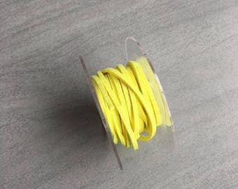 Suede 3mm neon yellow